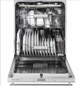 "ZDT975SSJSS Monogram 24"" Fully Integrated Dishwasher with 5 Wash Settings and Hard Food Disposer - Stainless Steel"