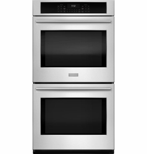 """ZEK7500SHSS Monogram 27"""" Double Electric Wall Oven with True European Convection - Stainless Steel"""