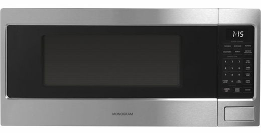 ZEM115SFSS GE Monogram 1.1 Cu. Ft. Countertop Microwave with Sensor Cooking - Stainless Steel