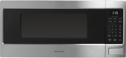 "ZEM115SJSS Monogram 24"" 1.1 Cu. Ft. Countertop Microwave Oven with Sensor Cooking Controls - Stainless Steel"