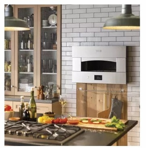 """ZEP30SKSS Monogram 30"""" Built-in Single Pizza Oven with Electric Heating Zones and Touch LCD Controls - Stainless Steel"""