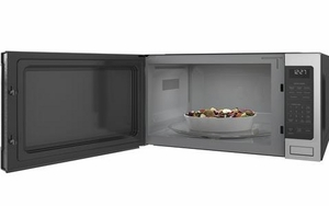 """ZES1227SLSS Monogram 24"""" 2.2 Cu. Ft. Countertop Microwave Oven with Sensor Cooking Controls and Extra Large 16.5"""" Turntable - Stainless Steel"""