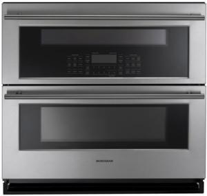 "ZET1DJSS Monogram 30"" Double Wall Oven with 5.0 Total Cu. Ft. Capacity and True European Convection - Stainless Steel"