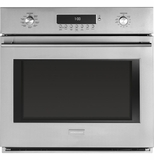 ZET1SHSS Monogram Single Electric Wall Oven with True European Convection with Direct Air  - Stainless Steel