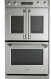 "ZET2FLSS Monogram 30"" Professional French-Door Electronic Convection Double Wall Oven with True European Convection and Wifi Connect - Stainless Steel"
