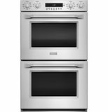 "ZET2PHSS Monogram 30"" Professional Stainless Steel Built-in Double Wall Oven with True European Convection with Direct Air - Stainless Steel"