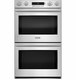 ZET2SHSS Monogram Double Electric Wall Oven with True European Convection with Direct Air - Stainless Steel