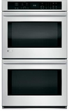 "ZET9550SHSS Monogram 30"" Electric Double Wall Oven with True European Convection with Direct Air - Stainless Steel"
