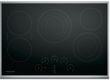"ZEU30RSJSS Monogram 30"" Touch Control Electric Cooktop with Glide Touch Controls - Black with Stainless Steel"