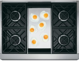 "ZGP364LDRSS Monogram 36"" All Gas Professional Range with 4 Burners and Griddle (Liquid Propane) - Stainless Steel - CLEARANCE"
