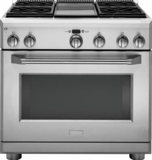 "ZGP364LDRSS GE Monogram 36"" All Gas Professional Range with 4 Burners and Griddle (Liquid Propane) - Stainless Steel"