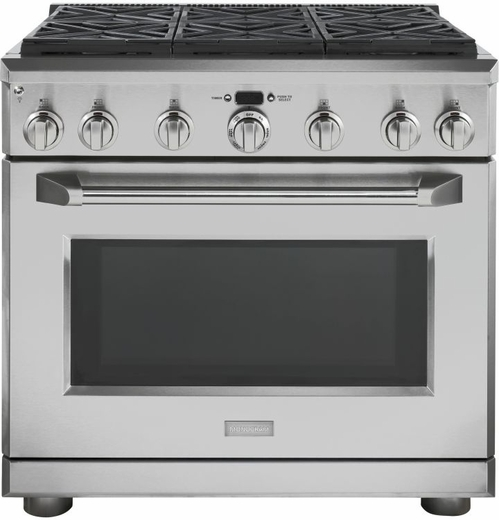 "ZGP366NRSS Monogram 36"" All Gas Pro Style Range with 6 Burners - Natural Gas - Stainless Steel"