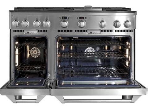"""ZGP486NDRSS Monogram 48"""" Natural Gas Professional Range with 6 Burners & Griddle - Stainless Steel"""