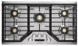 """ZGU36ESLSS Monorgram 36"""" Deep-Recessed Natural Gas Cook Top with Precision Knobs and TriRing Burner - Stainless Steel"""