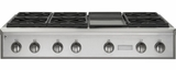 """ZGU486NDPSS Monogram 48"""" Pro Style Gas Cooktop with 6 Burners and Griddle - Natural Gas - Stainless Steel"""