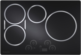 "ZHU30RDJBB Monogram 30"" Induction Cooktop with 4 Cooking Zones and Slide Touch Controls - Black"