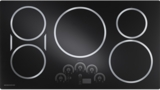 "ZHU36RDJBB Monogram 36"" Induction Cooktop with 5 Cooking Zones - Black"