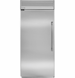 "ZIFP360NHLH GE Monogram 36"" Professional Built-In All Freezer - Left Hinge - Stainless Steel"