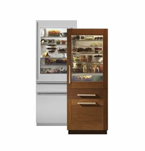 """ZIK30GNHII Monogram 30"""" Fully Integrated Customizable Refrigerator with Glass Door (for Single or Dual Installation) - Custom Panel"""