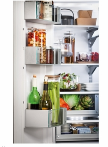 "ZIPP360NHSS Monogram 36"" Built-In French-Door Refrigerator with Professional Style Handles - Stainless Steel"