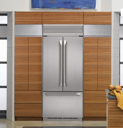 Zipp360nhss Monogram 36 Built In French Door Refrigerator With Professional Style Handles Stainless Steel