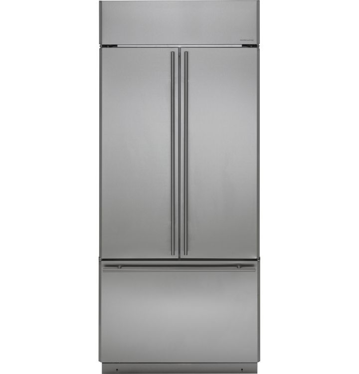 Zips360nhss Monogram 36 Built In French Door Refrigerator With European Style Handles Stainless Steel