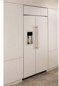 """ZISB360DK Monogram 36"""" Built-In Side-by-Side Refrigerator with LED Lighting and WiFi Connect - Custom Panel"""