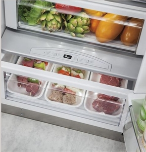 """ZISP420DKSS Monogram 42"""" Professional Built-In Side-by-Side Refrigerator with LED Lighting and WiFi Connect - Stainless Steel"""