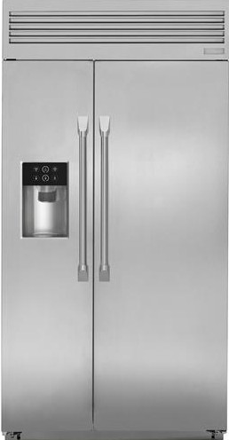 "ZISP420DKSS Monogram 42"" Professional Built-In Side-by-Side Refrigerator with LED Lighting and WiFi Connect - Stainless Steel"