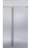 "ZISS420NKSS GE Monogram 42"" Built-In Side-by-Side Refrigerator with LED Lighting and WiFi Connect - Stainless Steel"