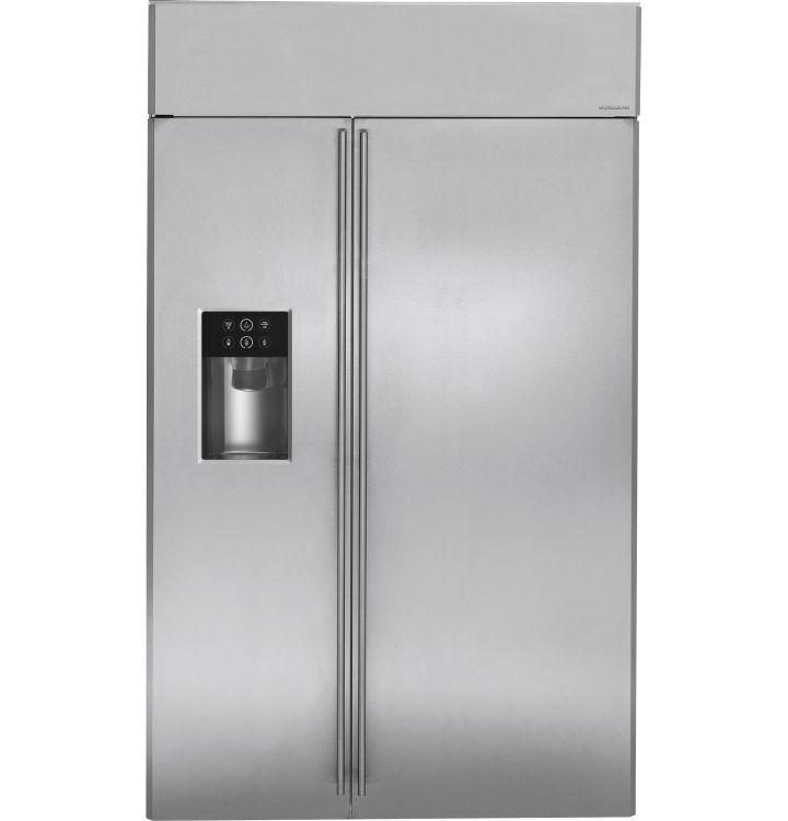 Ziss480dhss Ge Monogram 48 Built In Side By Side Refrigerator With