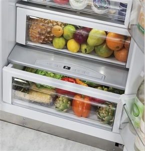 """ZISS480DKSS Monogram 48"""" Built-In Side-by-Side Refrigerator with LED Lighting and WiFi Connect - Stainless Steel"""