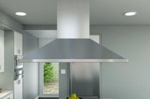 """ZSLE42BS Zephyr 42"""" Island Mount Chimney Pro Range Hood with ICON Touch and Airflow Control Technology - Stainless Steel"""