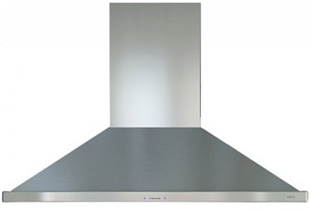 "ZSLE48BS Zephyr 48"" Island Chimney Pro Range Hood with ICON Touch and Airflow Control Technology - Stainless Steel"