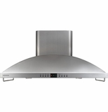 "ZV1050SFSS Monogram Stainless Steel 42"" High Performance Island Hood"