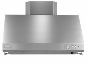 """ZV36SSJSS GE 36"""" MONOGRAM Professional Hood with Utensil Racks and Removable Grease Trays - Stainless Steel"""