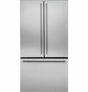 ZWE23ESHSS Monogram Energy Star 23.1 Cu. Ft. Counter Depth French-Door Refrigerator - Stainless Steel
