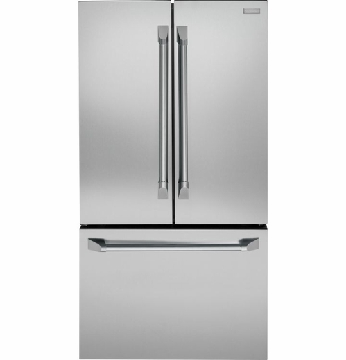 ZWE23PSHSS Monogram Energy Star 23.1 Cu. Ft. Counter Depth French-Door Refrigerator with TwinChill Evaporators - Stainless Steel