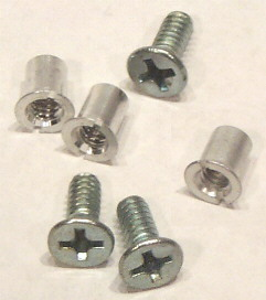 "Hardware Set for 1/4"" NAB by TME™ Three Screw Metal Reels 100 Pack*"