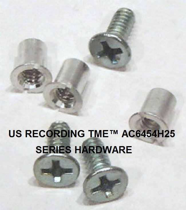 "Hardware Set for 1/4"" NAB by TME™ Three Screw Metal Reels 24 Pack"