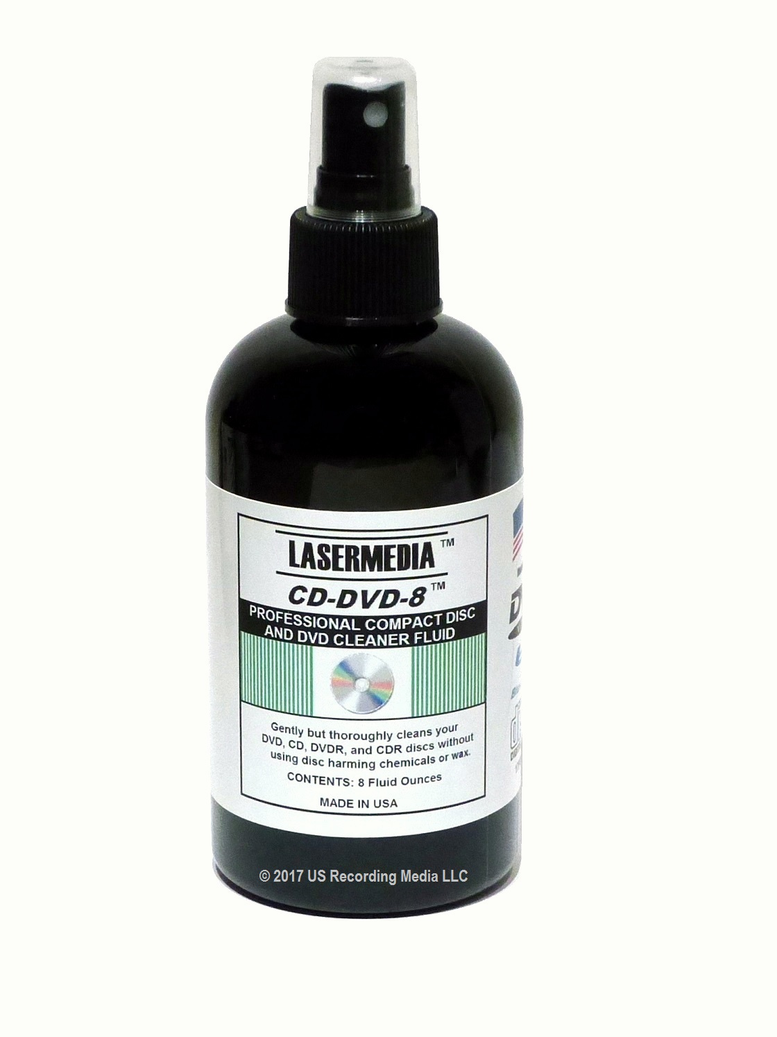 Lasermedia CD and DVD Cleaner CD-DVD-8 8 Ounce Spray Bottle
