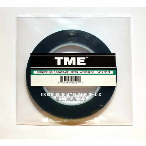 "NEW! TME Professional Studio Grade© 1/4"" X 215' Hold Down Tape, Green UPC# 858765005071"