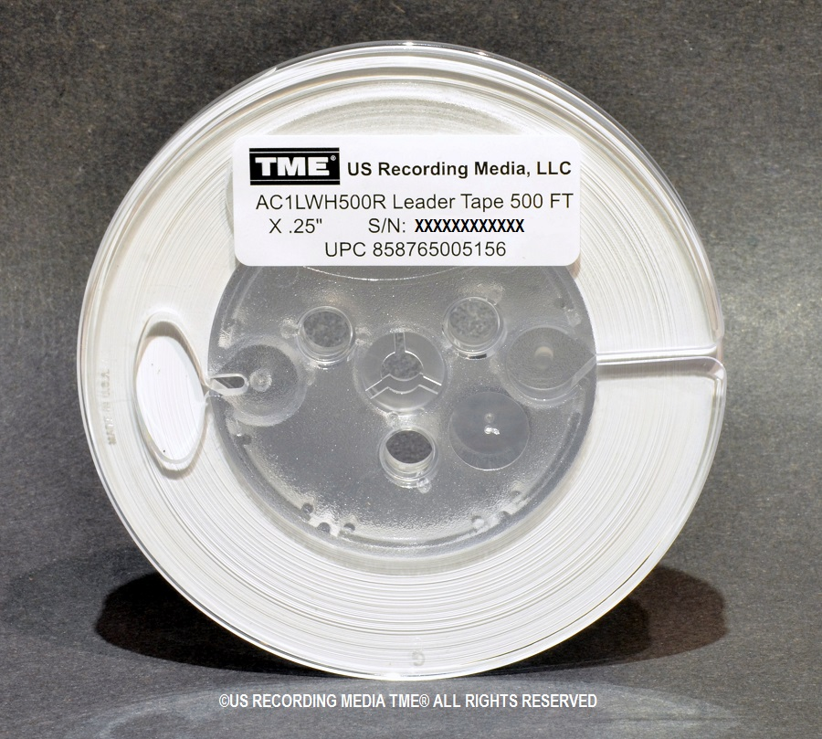 "TME® 1/4"" x 500' Studio Grade Precision White Leader on 5"" Reel"