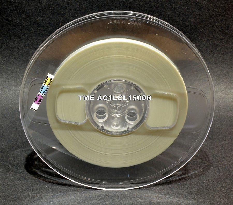 "TME™ Clear Precision Leader Tape 1/4"" X 1000 Ft on Reel"