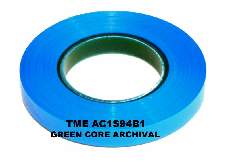 "TME® Pro Studio Grade/Archival Splicing Tape AC1S94B1C-15B for 1/4"" Magnetic Tape 82' Box of 15 Bulk Pack"