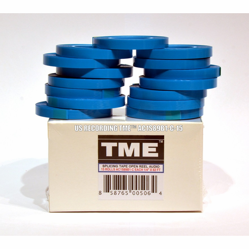 "Pro Studio Grade Splicing Tape TME AC1S89B1C-15B for 1/4"" Magnetic Tape 82' Box of 15 Bulk Pack"