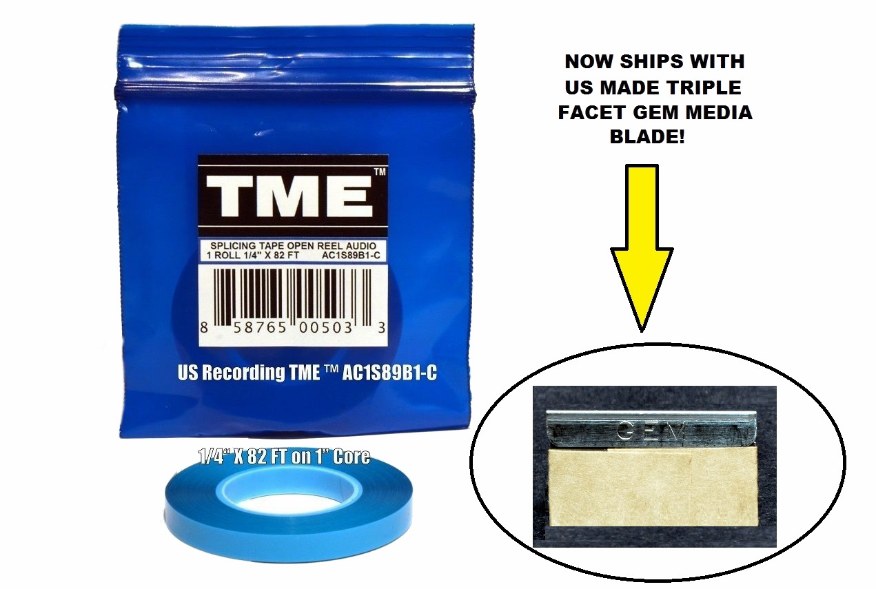 "TME Professional Splicing Tape for 1/4"" Recording Media 82' Poly Pack© UPC# 858765005033"