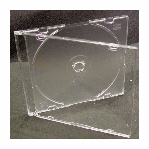 TME Slimline CD/DVD Cases, Clear, Ten Pack