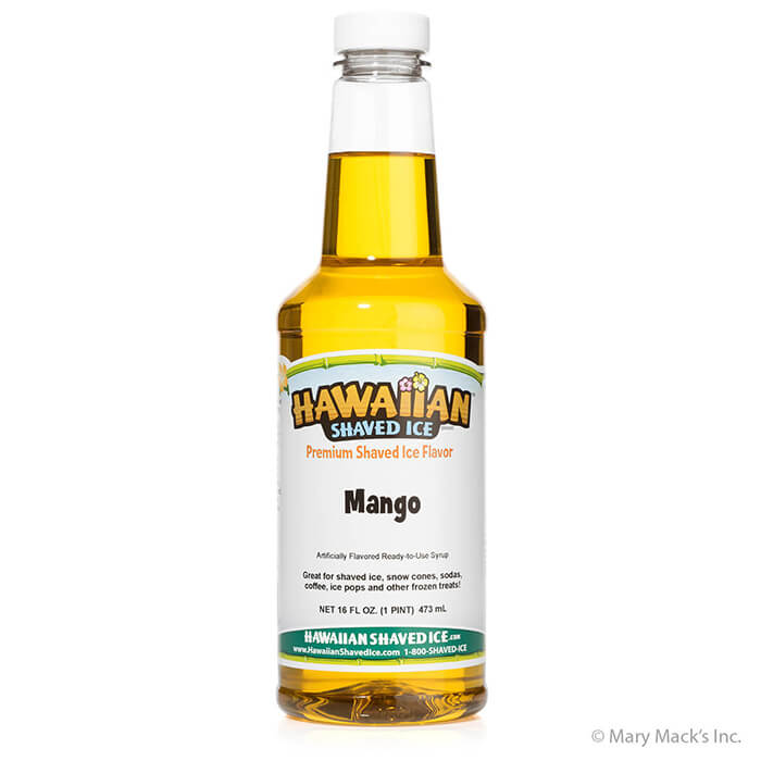 Monkey Juice Brand Mango Snow Cone Syrup Made with PURE CANE SUGAR