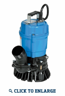 Tsurumi HS3.75s Submersible Water Trash Pump - 3
